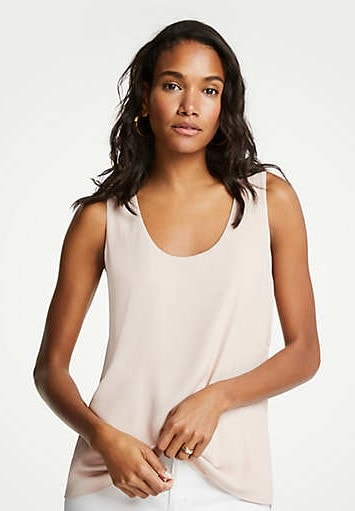 mixed jersey tank by Ann Taylor on A Well Styled Life