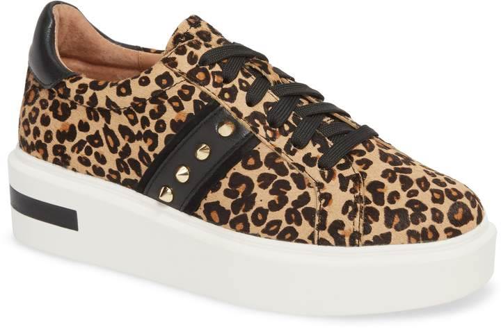 Linea Paolo Knox II Platform Genuine Calf Hair Sneaker on A Well Styled Life