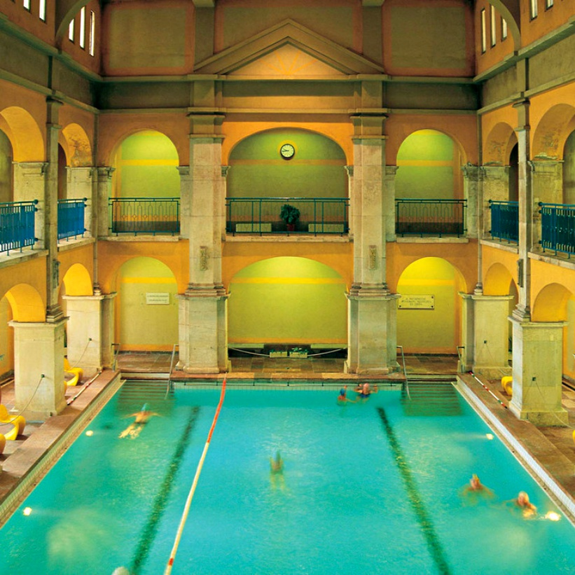 """Rudas baths - A Guide to Budapest Thermal Baths. Bathing in thermal waters has been part of everyday life in Budapest for centuries. Officially named """"The City of Spas"""". which of Budapests baths should you visit. www.awelltravelledbeauty.com"""