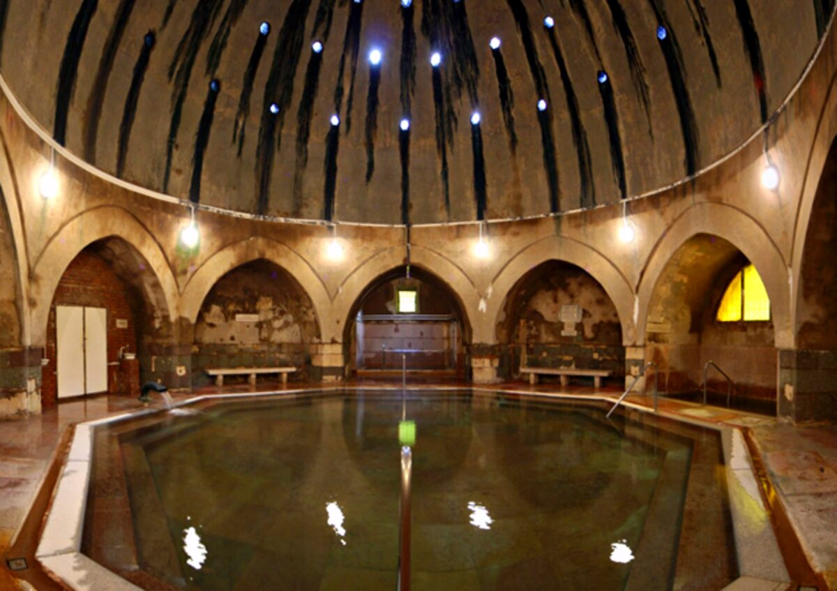 """Kiraly baths - A Guide to Budapest Thermal Baths. Bathing in thermal waters has been part of everyday life in Budapest for centuries. Officially named """"The City of Spas"""". which of Budapests baths should you visit. www.awelltravelledbeauty.com"""
