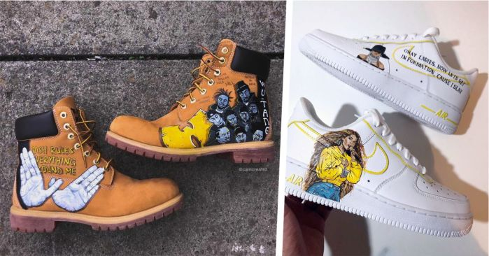 paintings on canvas shoes