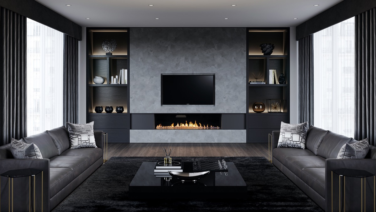 Silver is a precious metal, and its purest forms ― coins, bars or bullion made up of 99 percent or more silver ― have a lot of value. charcoal-leather-couches-roaring-fire-grey-living-room ...