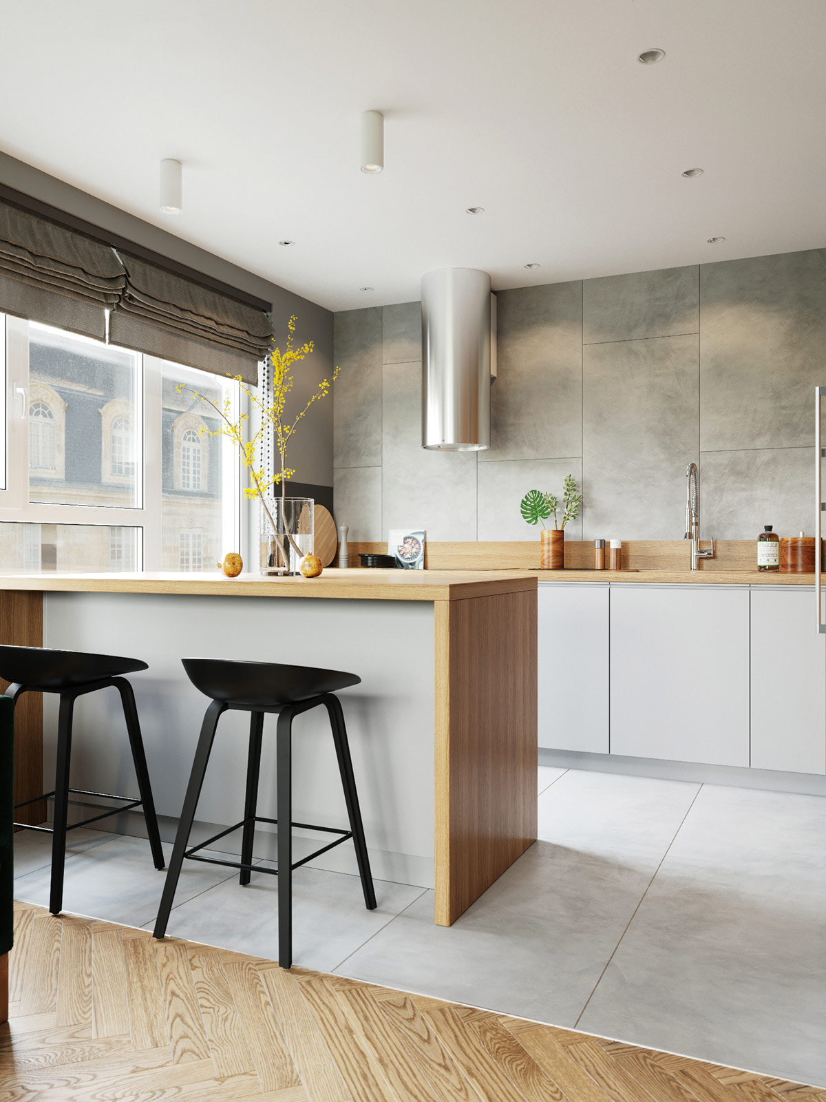 Eat In Kitchen Breakfast Bar With Modern Counter Height Stools Awesome Decors