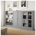 Ikea Havsta Gray Storage Combination W Glass Doors In 2019