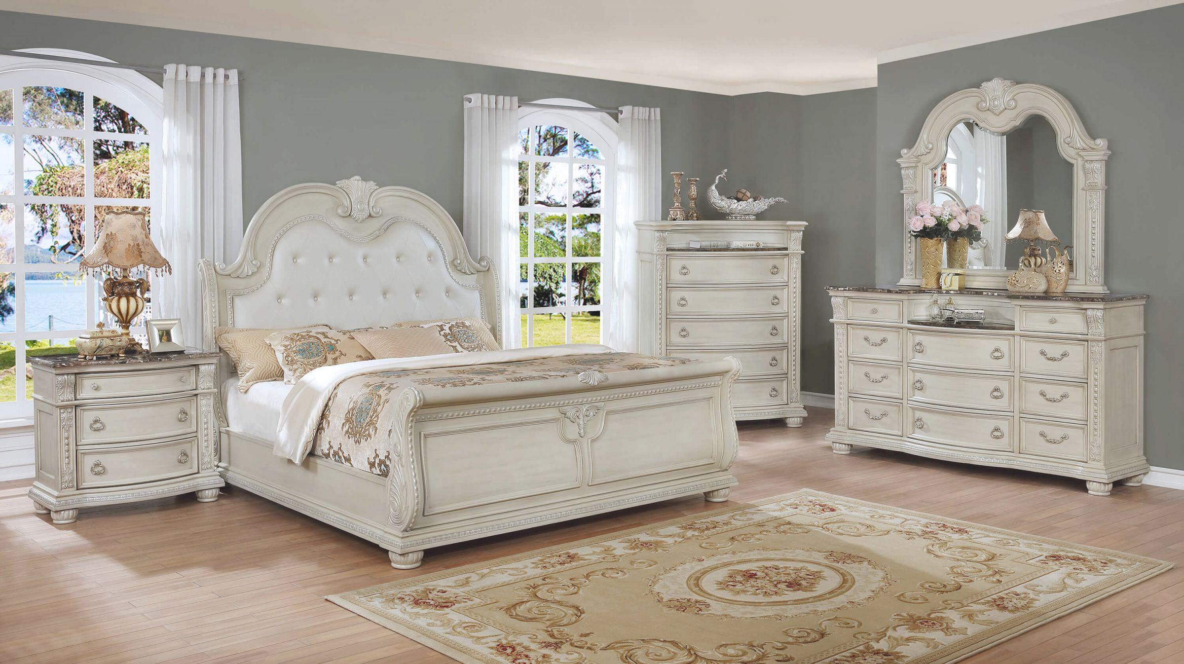 elegant white bedroom furniture set