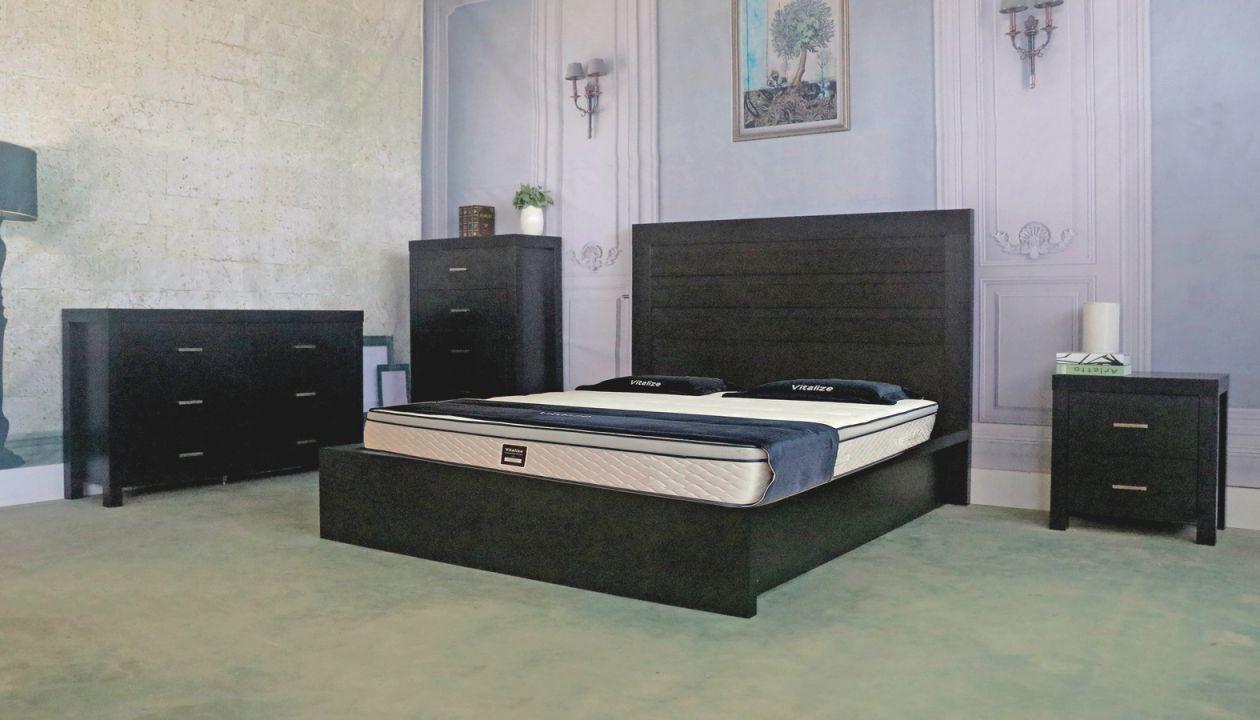 modern design smart home dark black