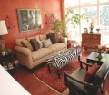 Zebra Print Ottoman Zebra Print And Red Living Room Decor Regarding Animal Print Living Room Decor Awesome Decors
