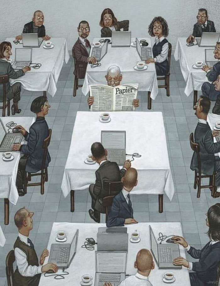 no-one-reads-paper-now-satirical-illustrations