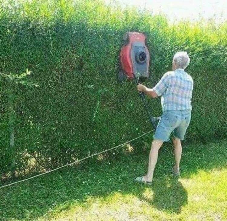 lawn-mower-as-hedge-trimmer-insane-photos