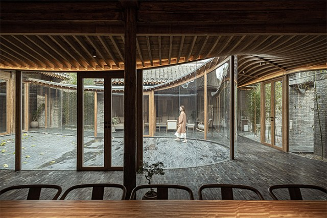traditional chinese courtyard modern