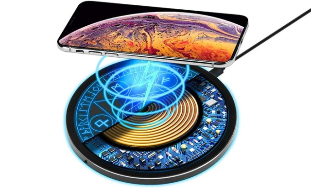 magical wireless charging pad light up