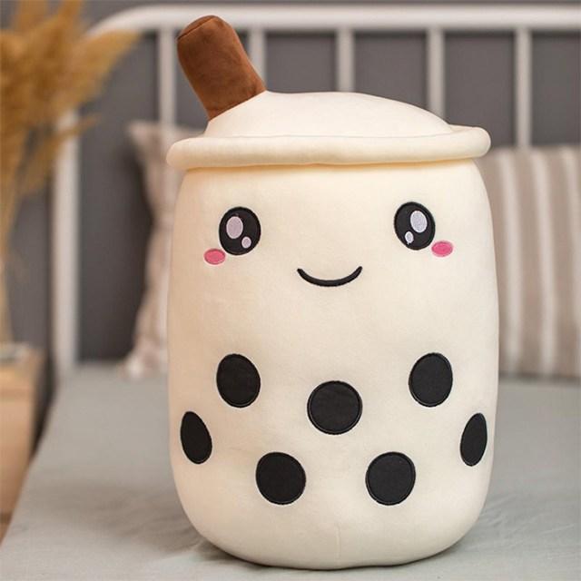 white boba plushy cute face