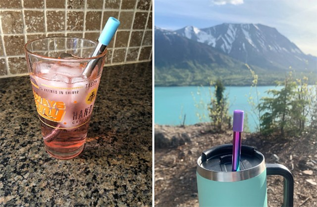 portable reusable drinking straw eco-friendly