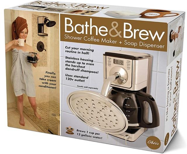 bathe & brew prank gift box front