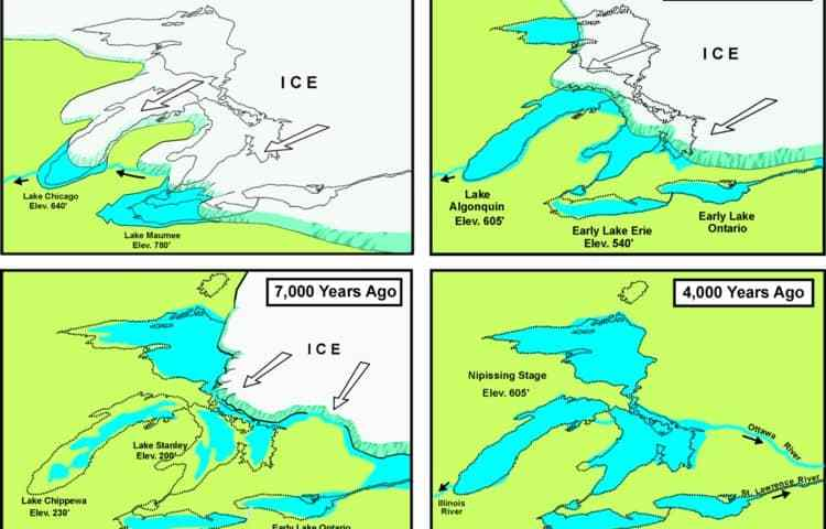 How the great lakes were formed history of the formation of the great lakes freerunsca Choice Image