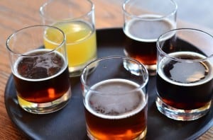 The beer sampler from the KBC.