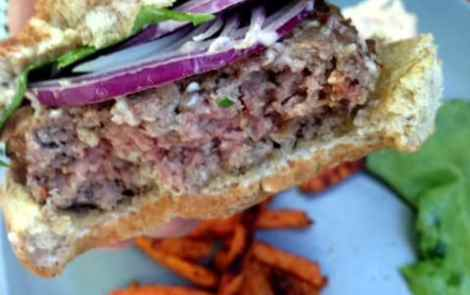 Fake-Out: Stella's Blue Stuffed Burger