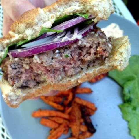 Fake-Out: Stella's Blue Stuffed Burger