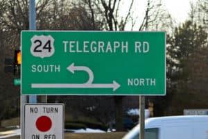 telegraph street sign