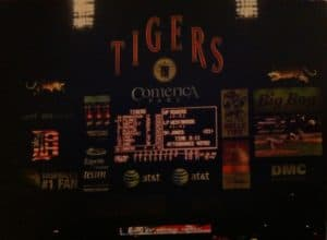 Tigers scoreboard