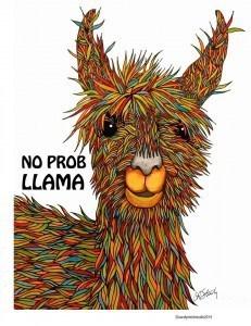 """""""No Prob Llama,"""" courtesy Carolyn Stich."""