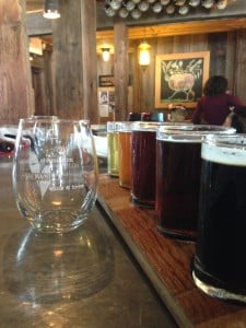 Flights at the Jolly Pumpkin are always flowing. Courtesy of Jennifer Hamilton