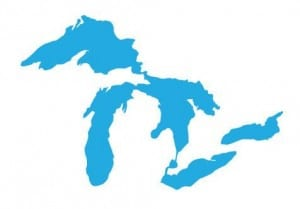 Great Lakes Proud Sticker - Light Blue - The Awesome Mitten