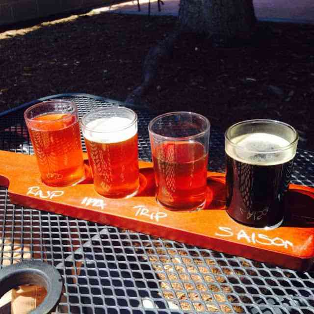 Flight of beer at Northport Brewing Company - #MittenTrip - Leland -The Awesome Mitten