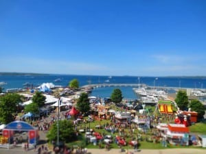 Beautiful Traverse City, mid Cherry Festival. Photo Courtesy of the National Cherry Festival