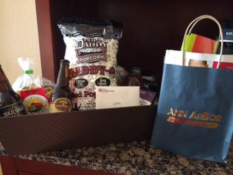 Gift Basket from Visit Ann Arbor at the Hilton Garden Inn - #MittenTrip - Ann Arbor - Ann Arbor