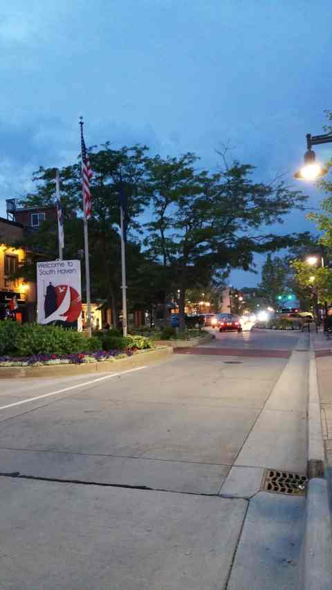 Downtown South Haven at Dusk - #MittenTrip - South Haven - The Awesome Mitten