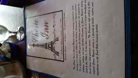 Menu at the Cherie Inn - #MittenTrip - GrandRapids