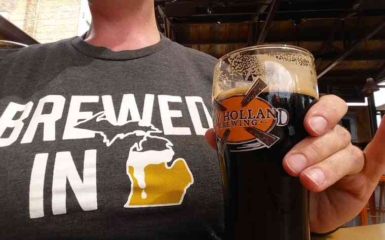 New Holland Brewing Company + High Five Threads Brewed in Michigan shirt - #MittenTrip - GrandRapids