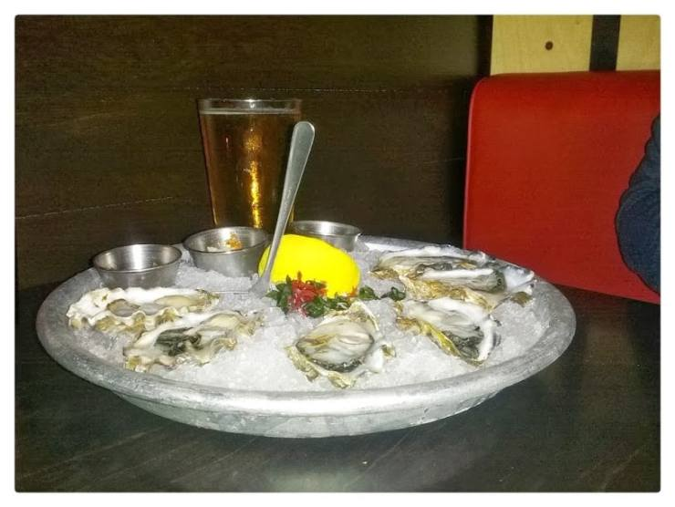 Oysters at the Sardine Room in Plymouth. Photo by Tim Chilcote - Awesome Mitten