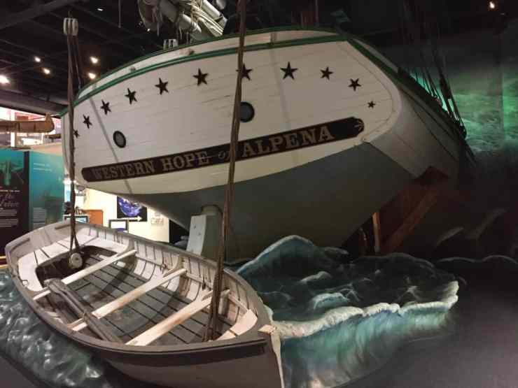 Shipwreck exhibit at Great Lakes Maritime Heritage Center in Alpena. Photo by Joel Heckaman