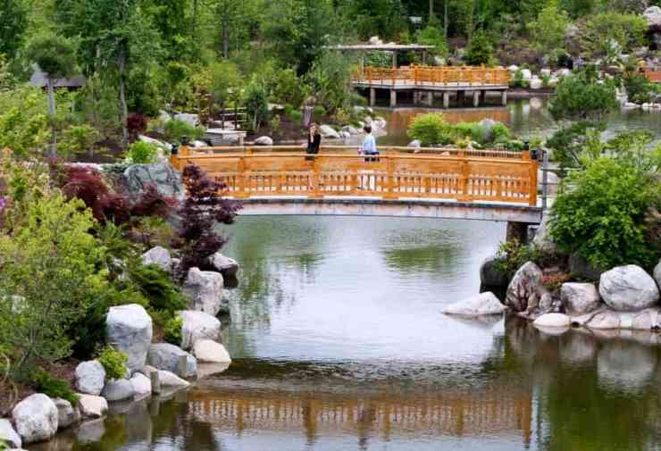 The $22 million Japanese Garden was unveiled in 2012. It features four waterfalls, two ponds, bridges, a gazebo, a Zen-style garden, and a bonsai garden. Photo by Cory Morse.