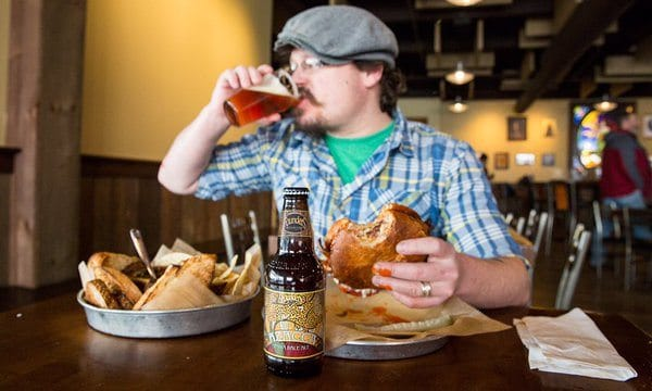 Founders Brewing Company is internationally-known for its award winning beer, but this Beer City USA restaurant also offers up cripsy, crunchy grilled cheeses. Photo courtesy of Founders Brewing Company.