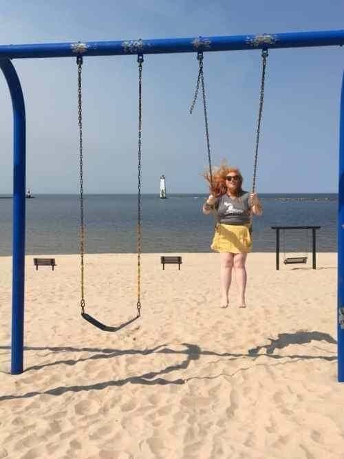 Frankfort Beach with Live Love MI.