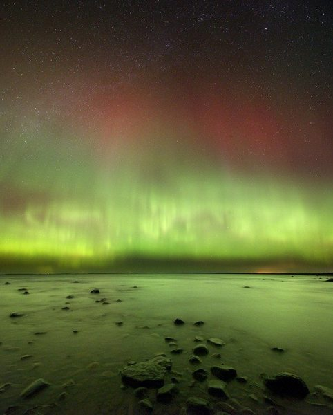 Northern Lights. Photo courtesy of Headlands International Dark Sky Park