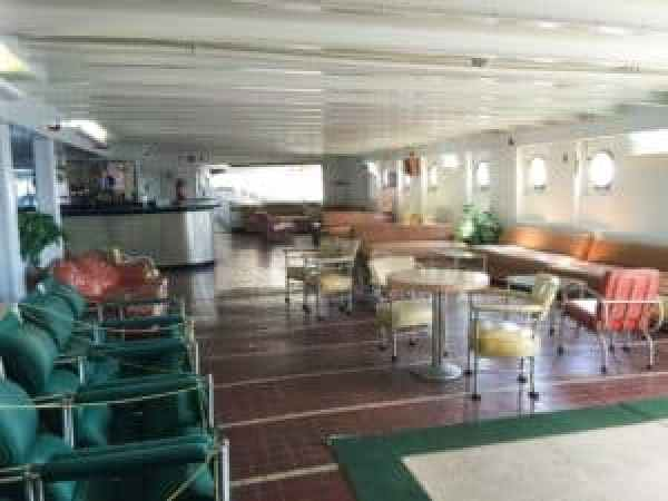 The Main Lounge of the ship where passengers would board. Photo courtesy of Jennifer Polasek.