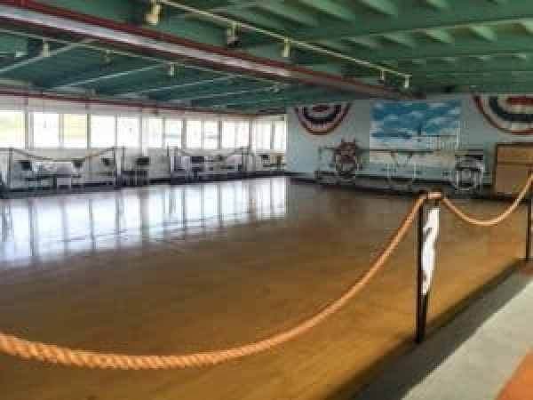 The oak dance floor aboard the S.S. Milwaukee Clipper. Photo courtesy of Jennifer Polasek.