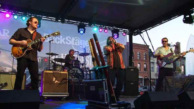 Harper and Midwest Kind perform at Michigan BluesFest. Photo courtesy of WKAR