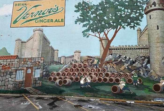 Vernors Mural in Flint on side of Greater Flint Arts Council