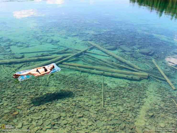 The crystal clear water of Lake Superior. Photo courtesy of National Geographic - The Awesome Mitten
