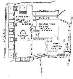 Diagram of the Alamo