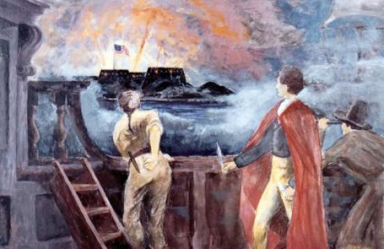 ATTACK ON FT. McHENRY (Illustration) Awesome Radio - Narrated Stories Biographies Famous Historical Events Famous People Geography Social Studies Nineteenth Century Life American History