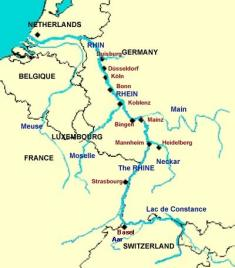 Image result for rhine river map