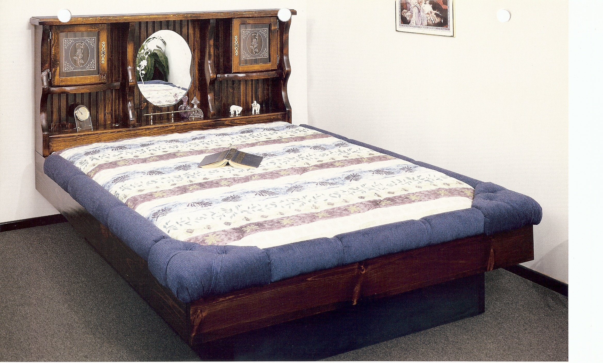 Waterbed New Haven Complete HBFRdeck6D Ped K King Pine