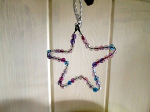 star wire and bead decoration