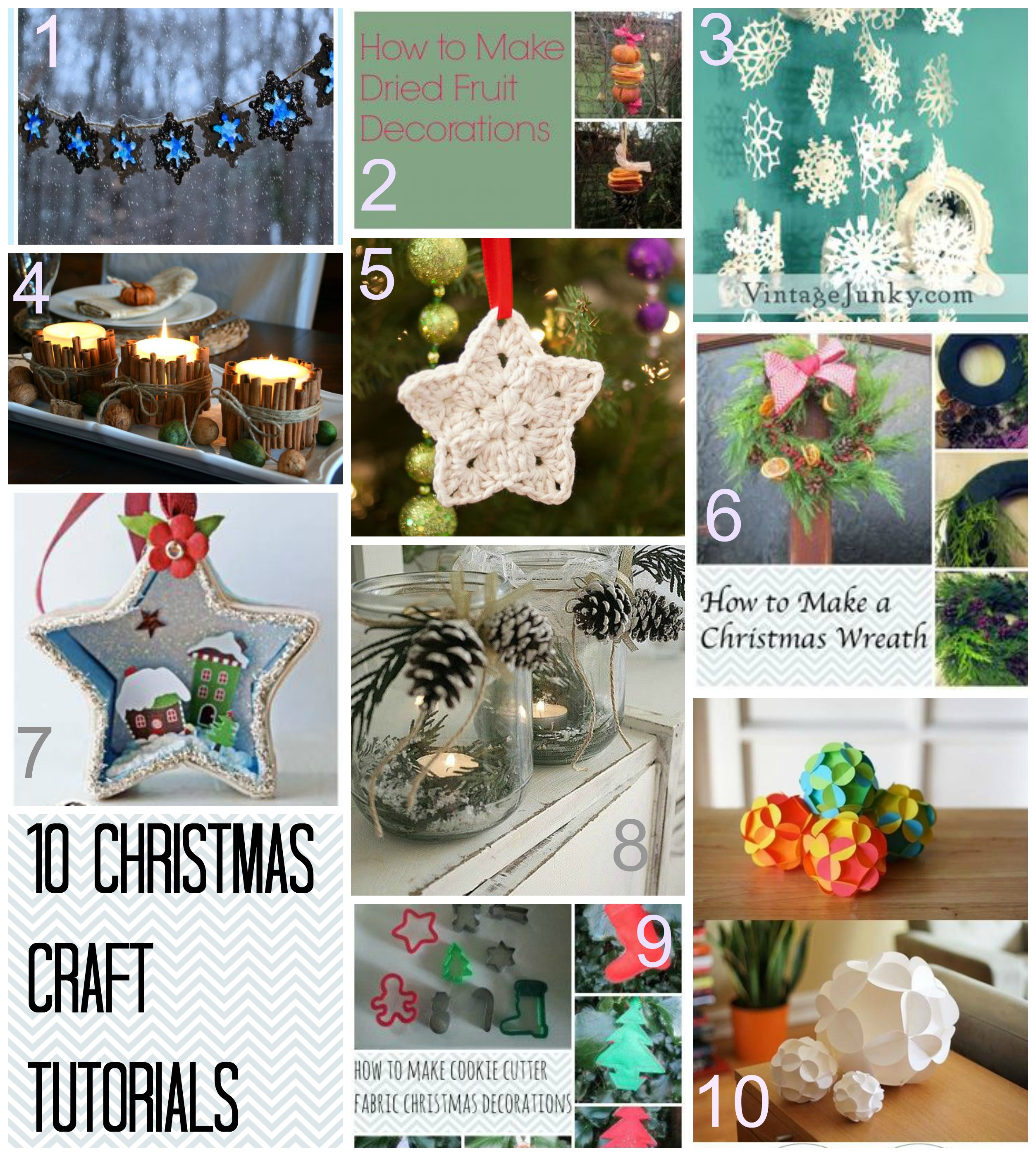 10 Christmas craft tutorials